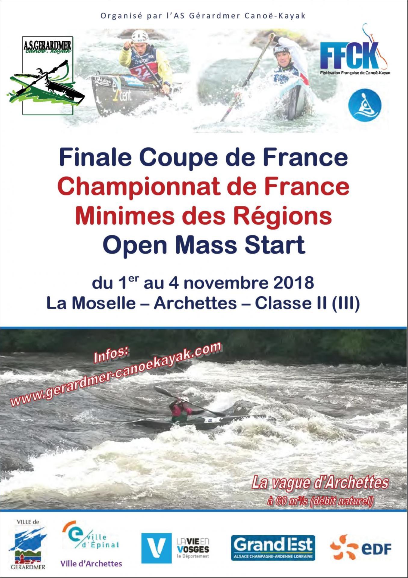 2018 .11.01 au 04 - Affiche CDF Minimes des Régions & Finale Coupe de France